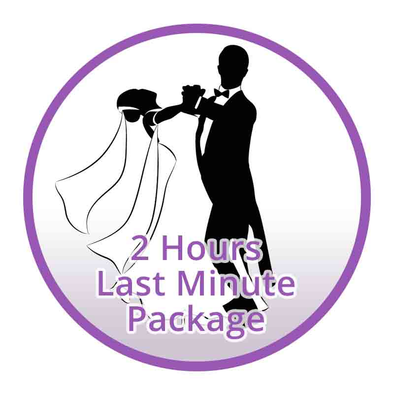 Last Minute Wedding Dance Lesson Package (2 hours)