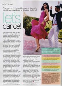 Brides Magazine article featuring First Dance UK