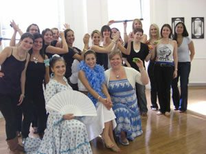 Hen Do Flamenco dance class