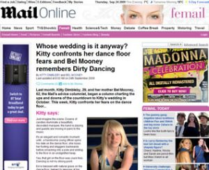 Daily Mail article featuring First Dance UK