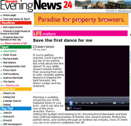 Norwich Evening News article featuring First Dance UK