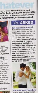 Now Magazine article Featuring First Dance UK