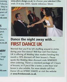 Wedding Ideas article featuring First Dance UK